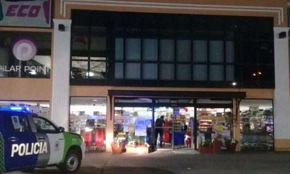 Quiso robar un supermercado ubicado al lado de la comisaría de Pilar
