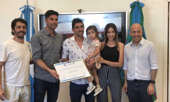 El futbolista Gastón Díaz fue declarado deportista destacado de Pilar