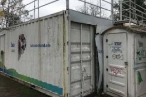 """Denuncian que una """"Estación Saludable"""" que costó un millón de pesos está cerrada"""